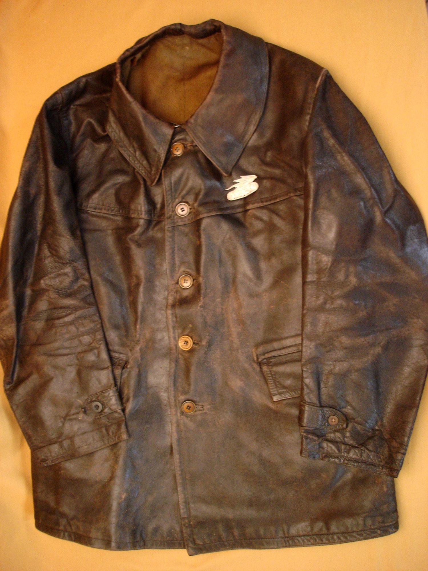 Veste cuir des Chars de combat modèle 35.
