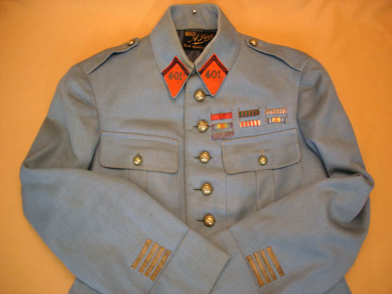 Veste bleu horizon d'un Commandant du 401e RA.
