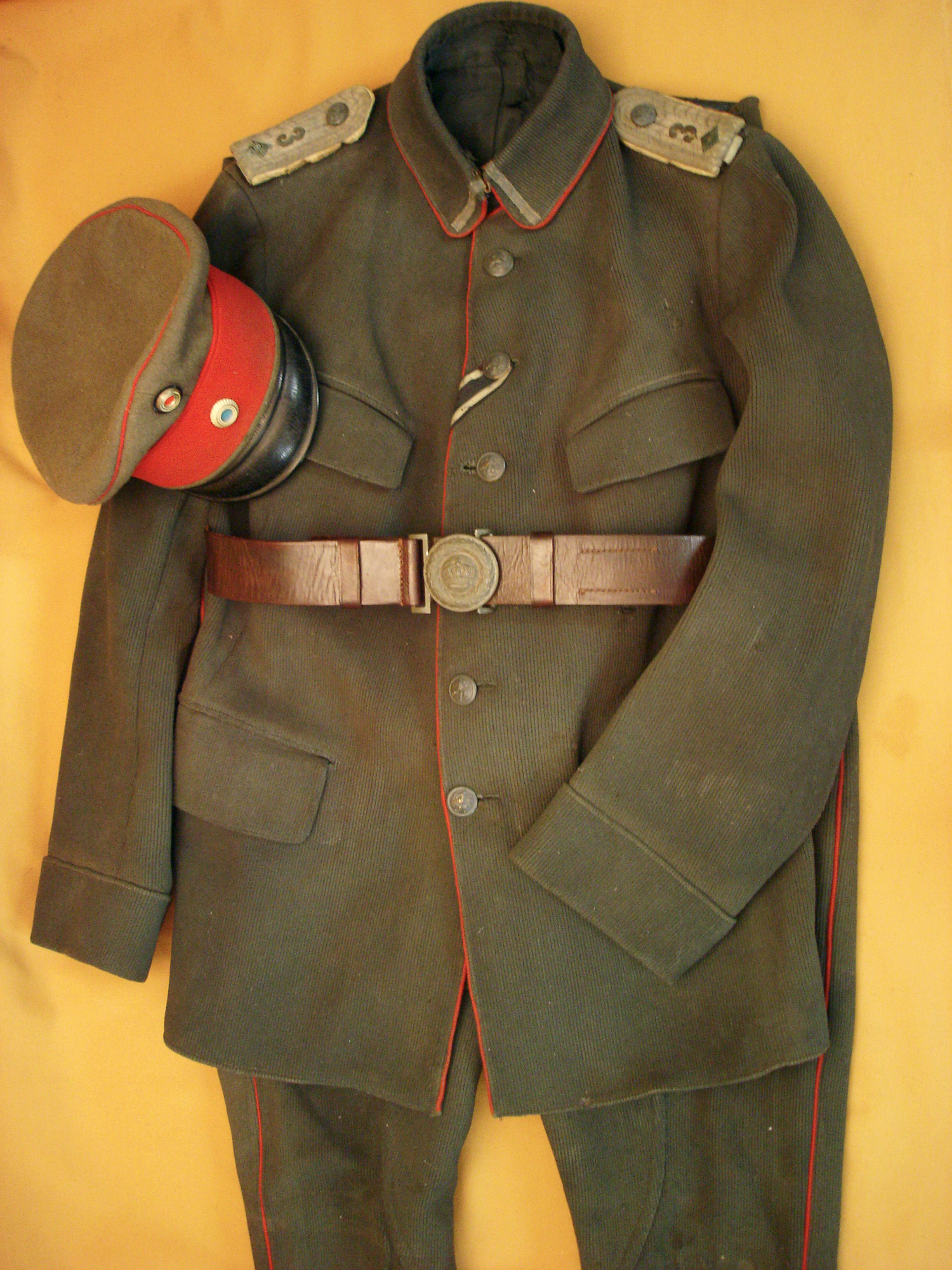 Uniforme feldgrau d'officier Bavarois 1916.