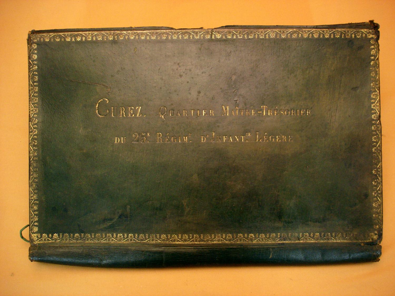 Porte document 1er Empire du 25e Rgt d'infanterie légère.