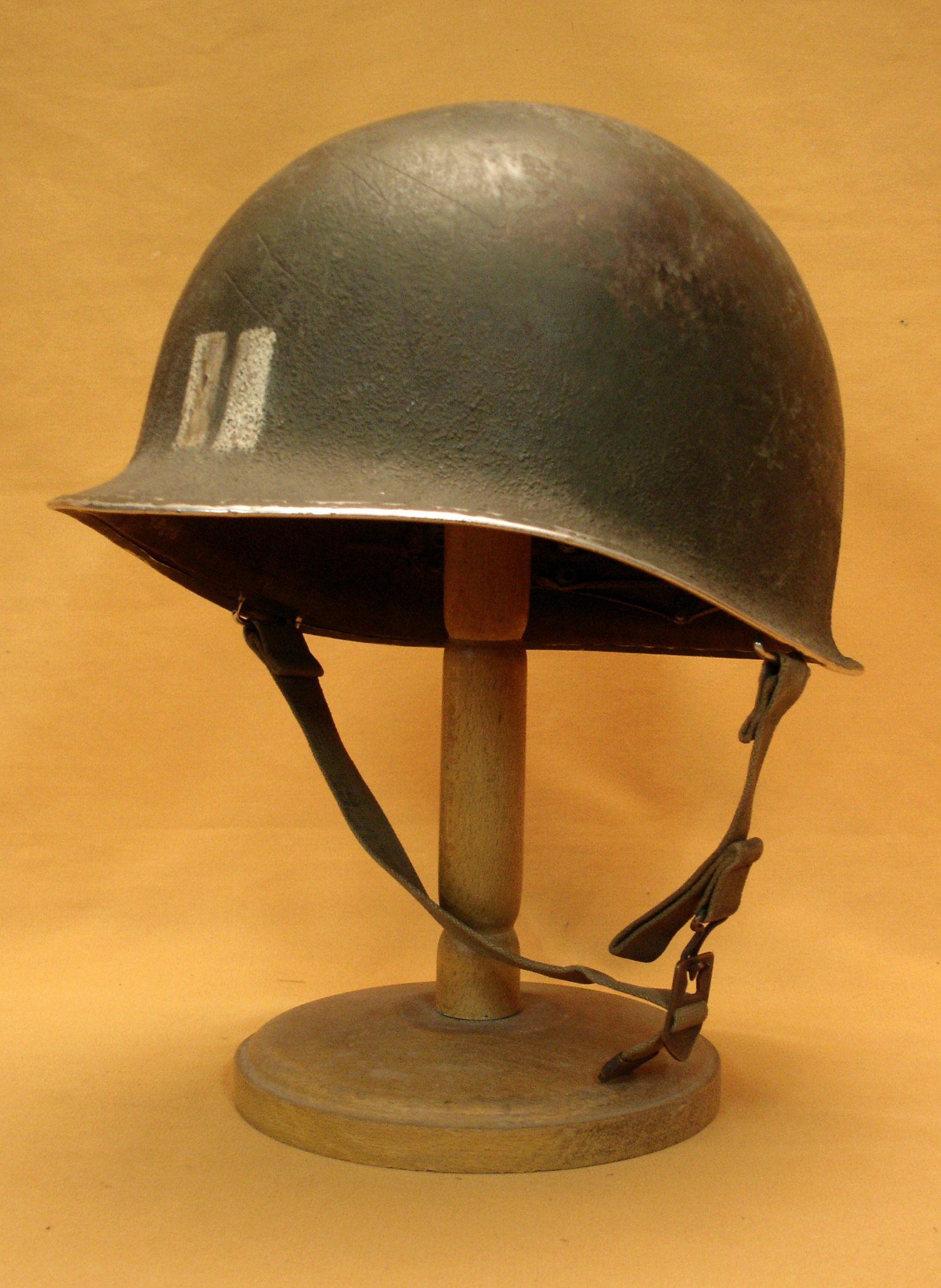 Casque US M1 de capitaine.