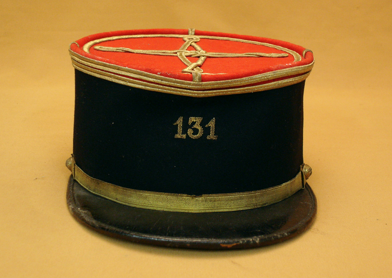 Képi Polo d'un lieutenant du 131 RI.
