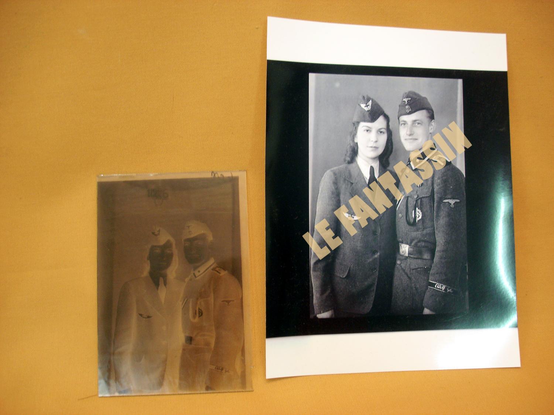 Négatif sur plaque de verre d'un Waffen de la LSSAH.