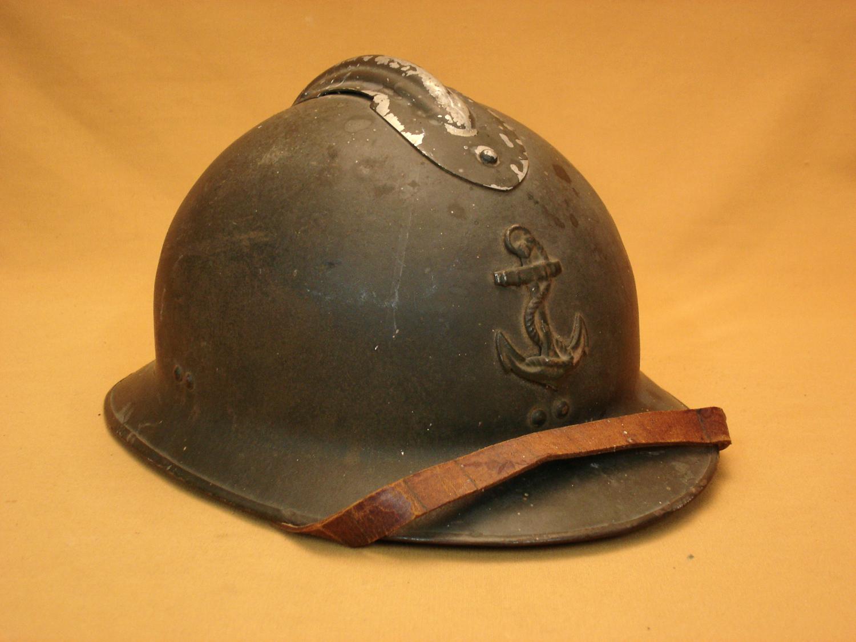 Casque Adrian 26, Infanterie Coloniale.
