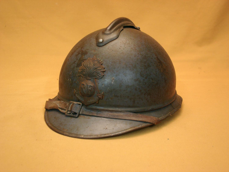 Casque Adrian 1915, Infanterie coloniale.